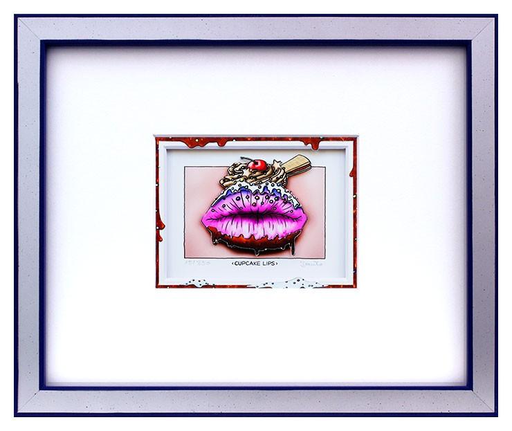 Branko - CUPCAKE LIPS - Original 3D Bild handsigniert