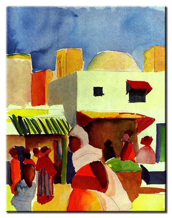 August Macke Bilder - Markt in Tunis