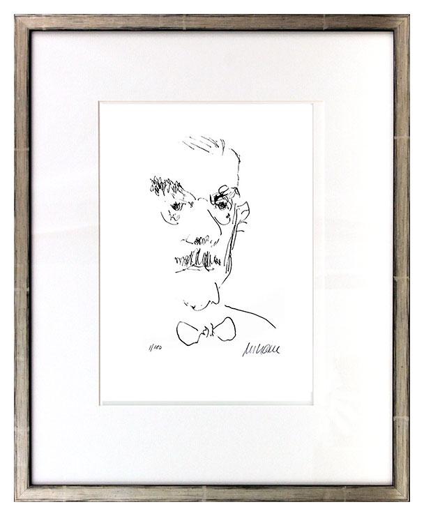 Armin Mueller-Stahl - Thomas Mann Original Lithographie - limitiert und handsigniert