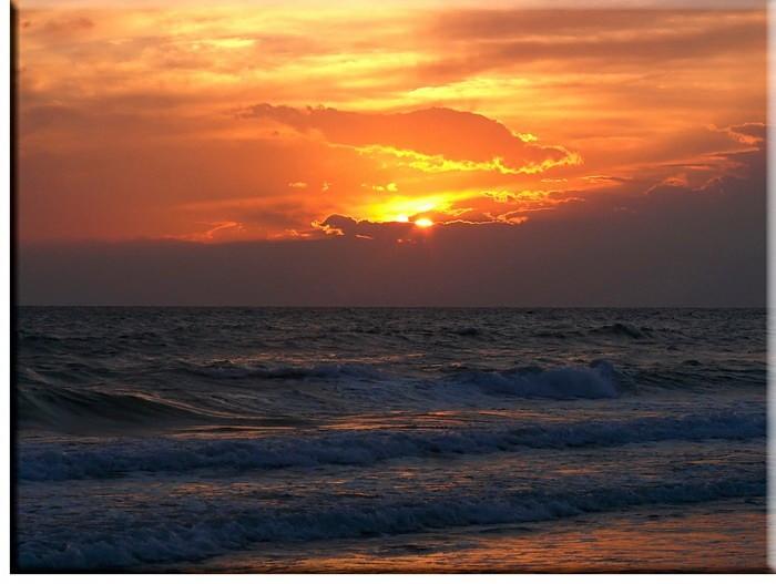 Modernes Leinwandbild - Abendstimmung am Meer