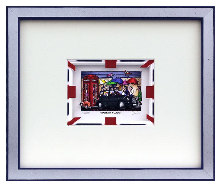 Branko - RAINY DAY IN LONDON - Original 3D Bild handsigniert