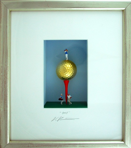 Volker Kuehn Bilder - Golf - Orig. 3D-Bildobjekt