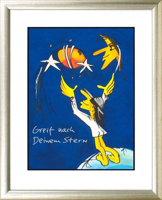 Udo Lindenberg GREIF NACH DEINEM STERN - original Grafik handsigniert - ohne Rahmen