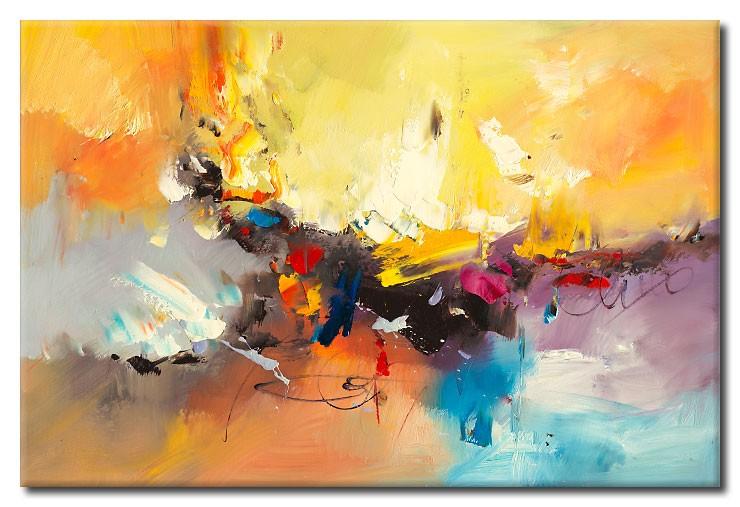 Totti Moreno - Composition Summer - abstraktes Leinwandbild