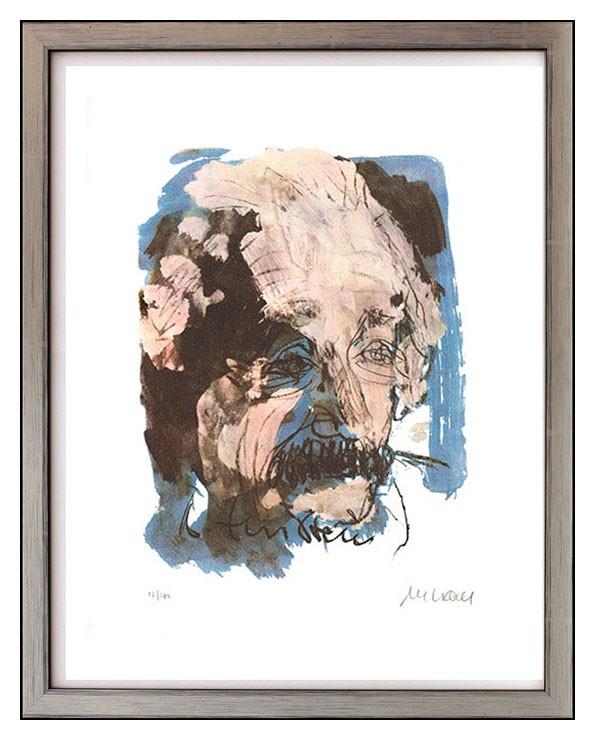 Armin Mueller-Stahl - Albert Einstein - Original Lithografie - limitiert und handsigniert