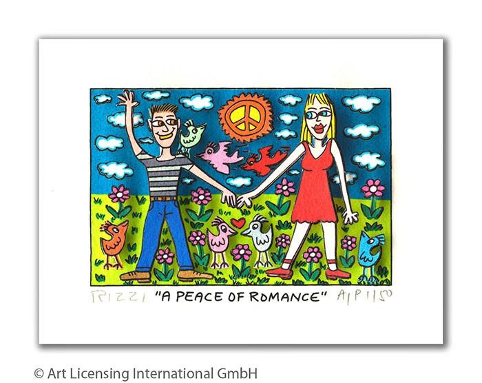 James Rizzi - A PEACE OF ROMANCE  - Original 3D Bild drucksigniert - ohne Rahmen PP-Normale Nummer