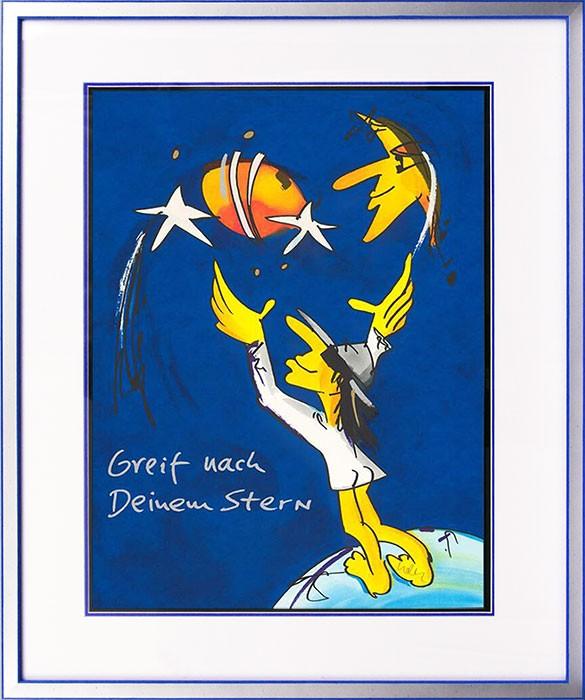 Udo Lindenberg GREIF NACH DEINEM STERN - original Grafik handsigniert