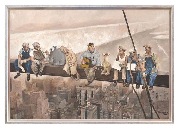1 Otto Waalkes - HIGH SOCIETY - ORIGINAL PIGMENTGRAFIK AUF LEINWAND