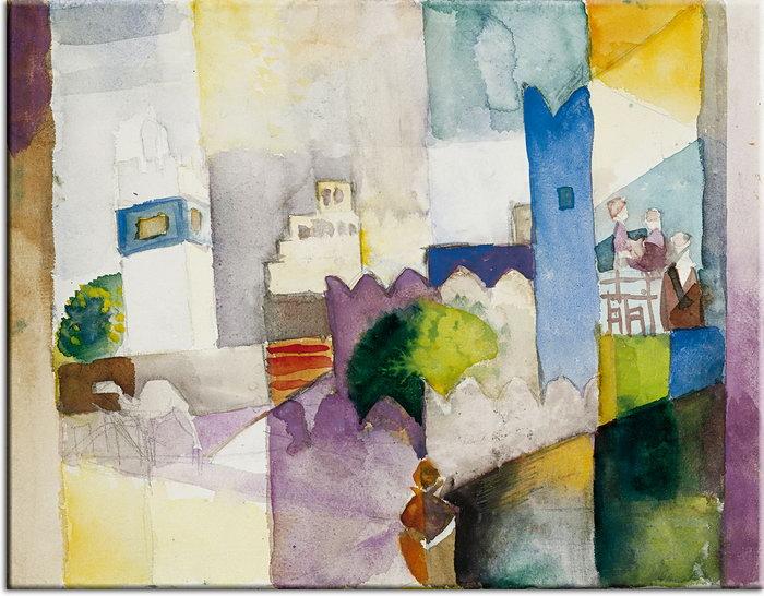 August Macke Bilder - Kairouan III (3) - Leinwandbild