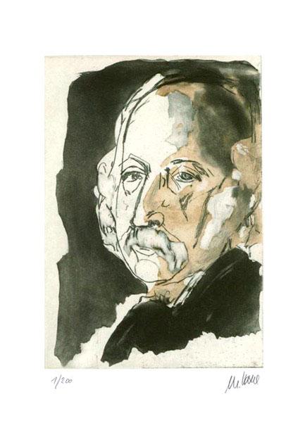 Armin Mueller-Stahl - Theodor Fontane - Original Radierung - limitiert und handsigniert