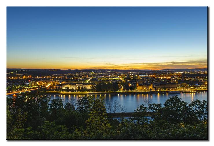 Koblenz am Abend - Leinwandbild