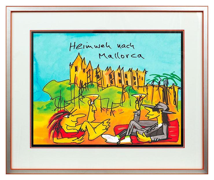 Udo Lindenberg HEIMWEH NACH MALLORCA - original Grafik handsigniert
